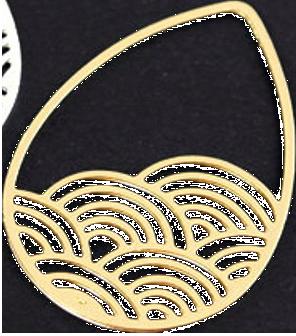 gouttes japonaises dorées