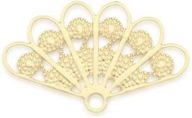 mini éventails dorés