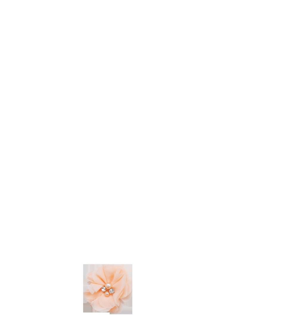fleur pêche strass