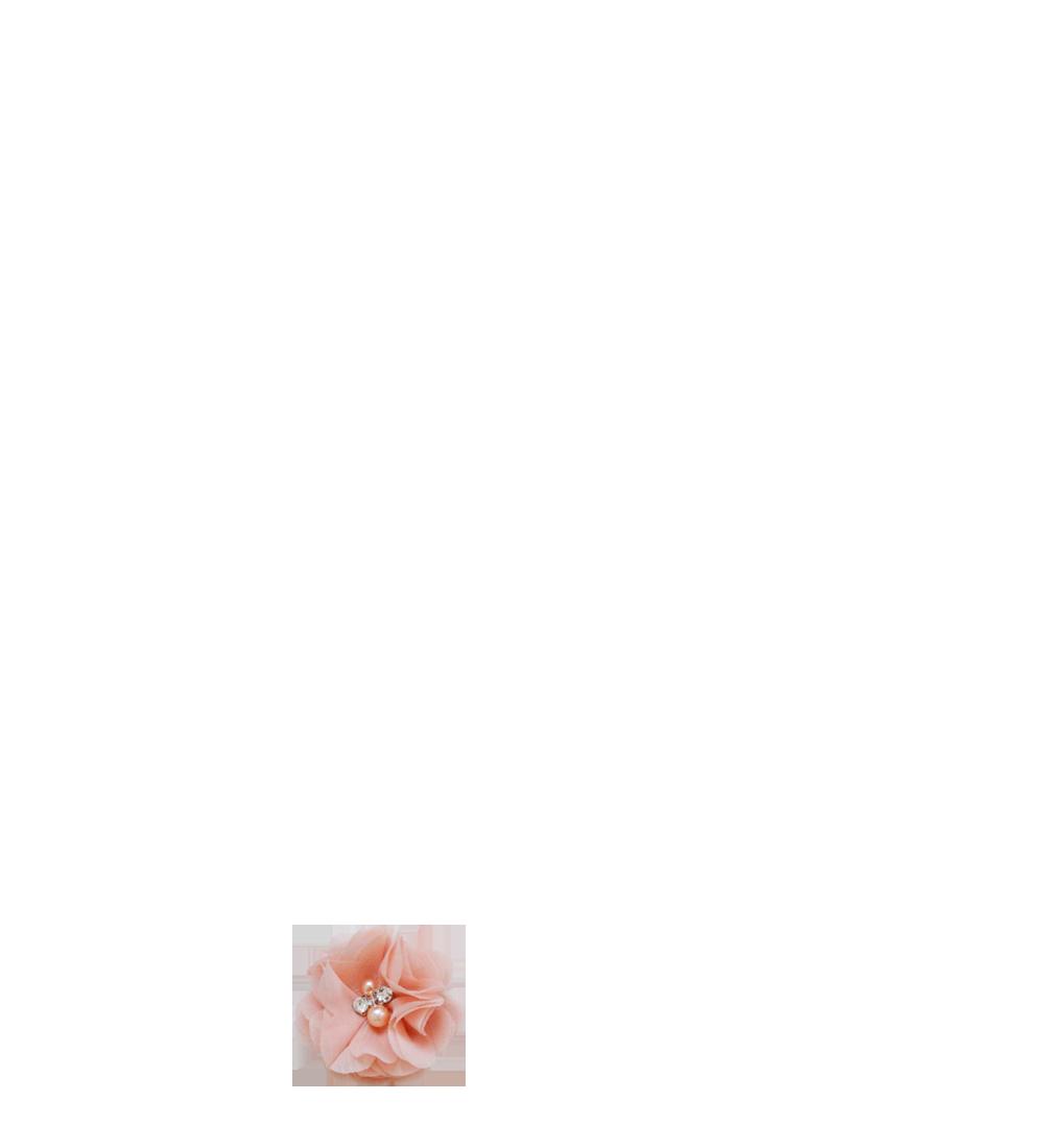 fleur vieux rose strass