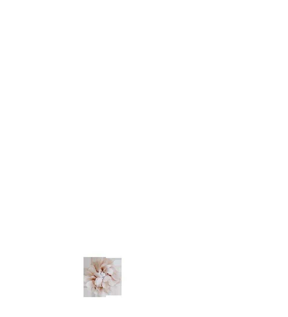 Fleur beige pistils