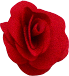 mini rose rouge vif