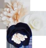 bouquet bleu marine