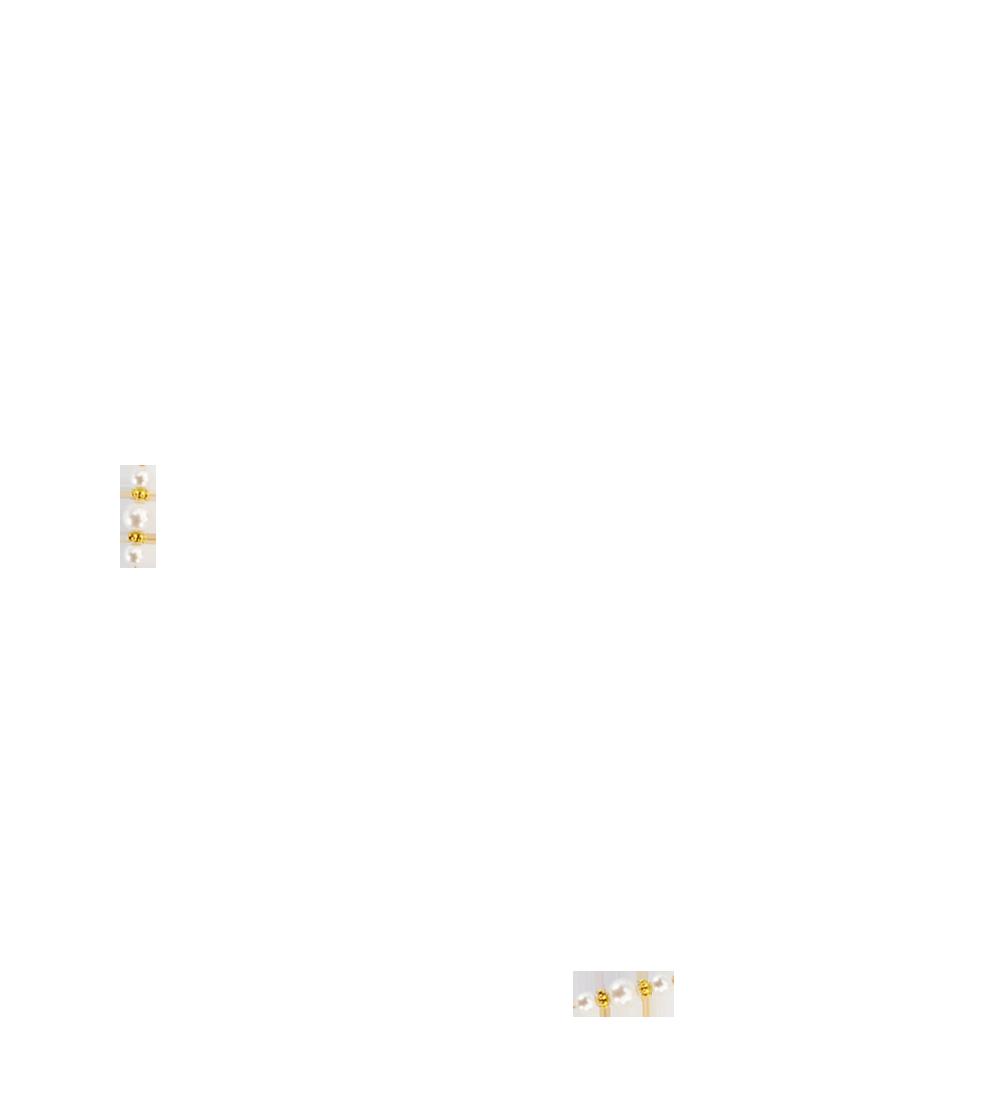 perles blanc naturel