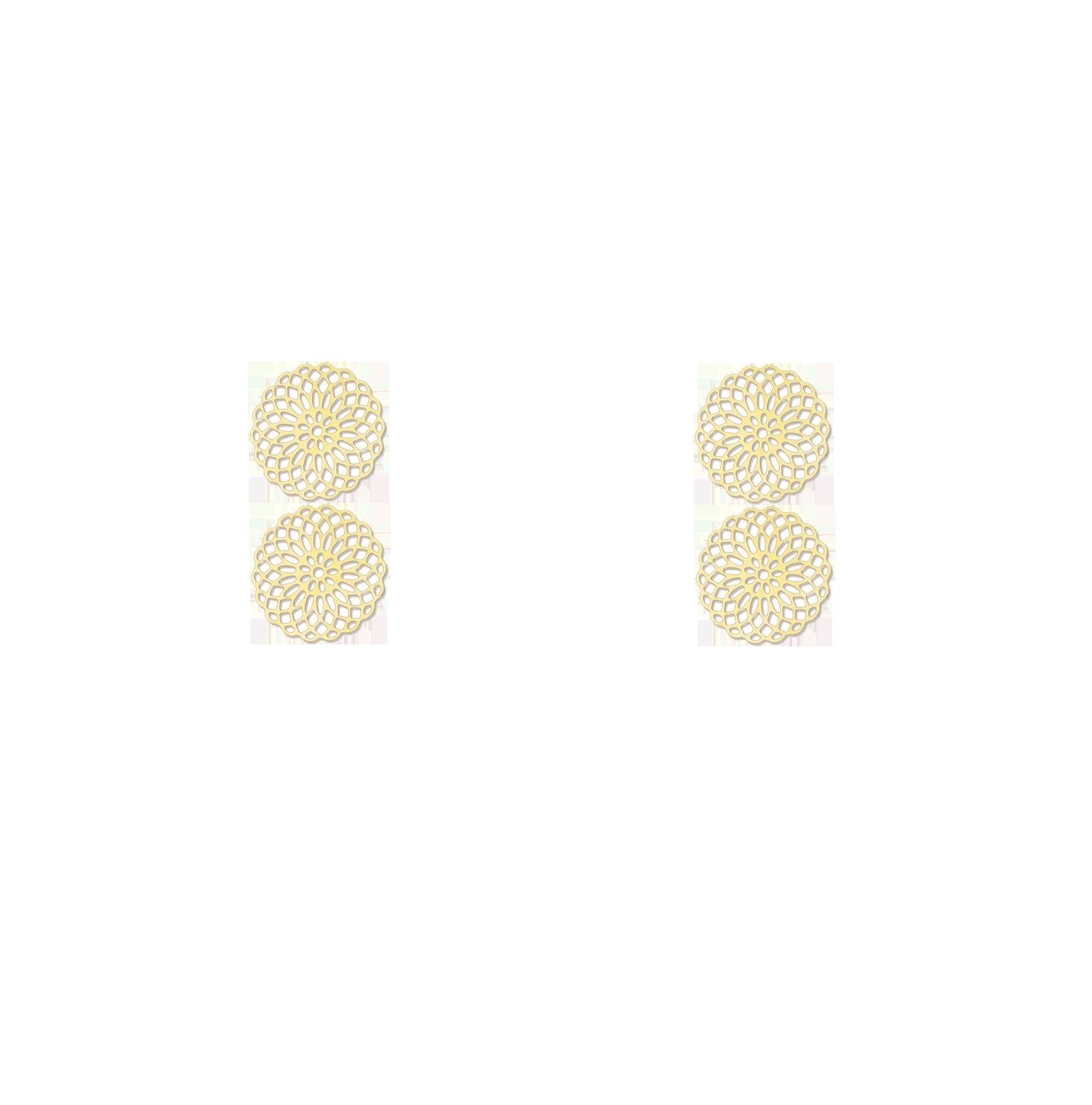 double rosaces dorées