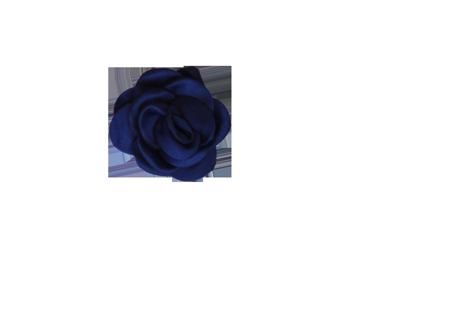 Fleur bleu marine