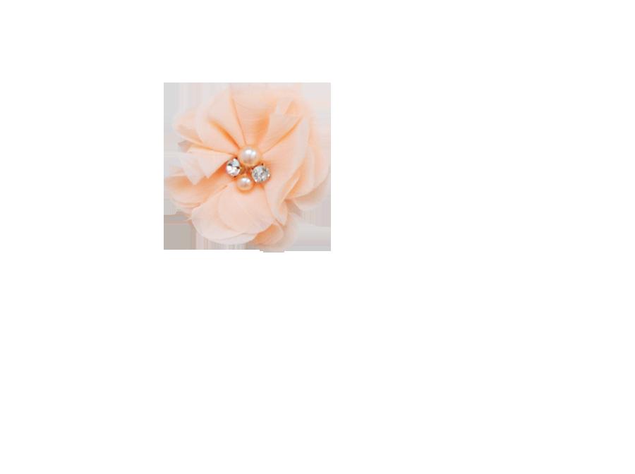 Fleur strass pêche