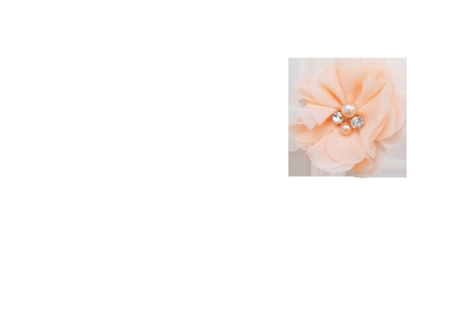 Fleur stras pêche