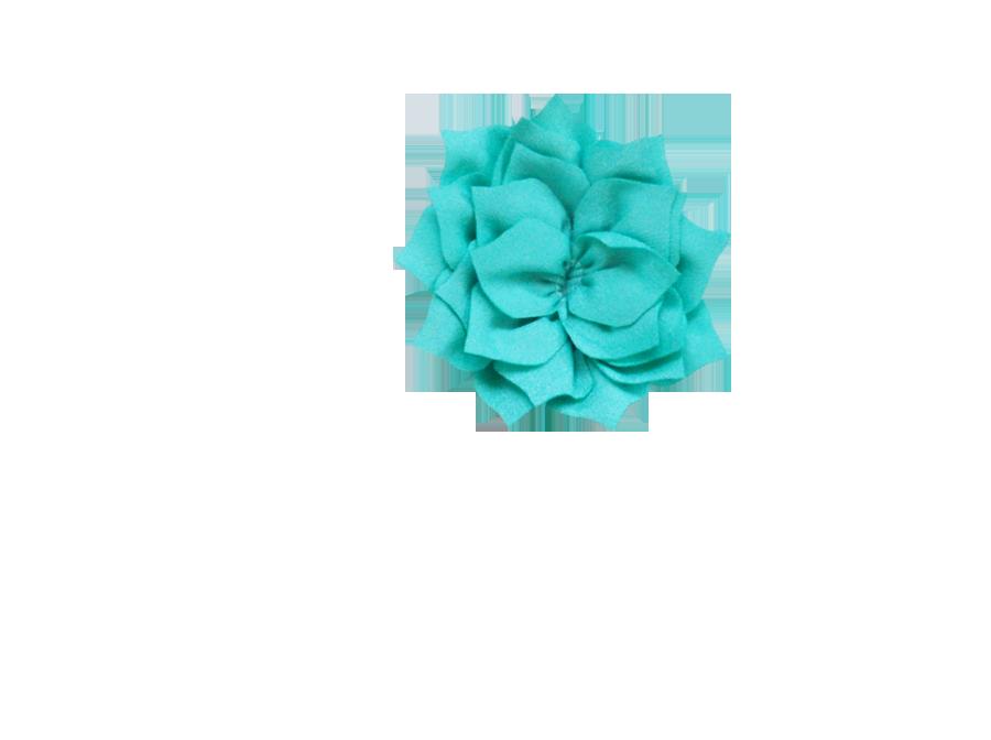 Fleur lotus turquoise