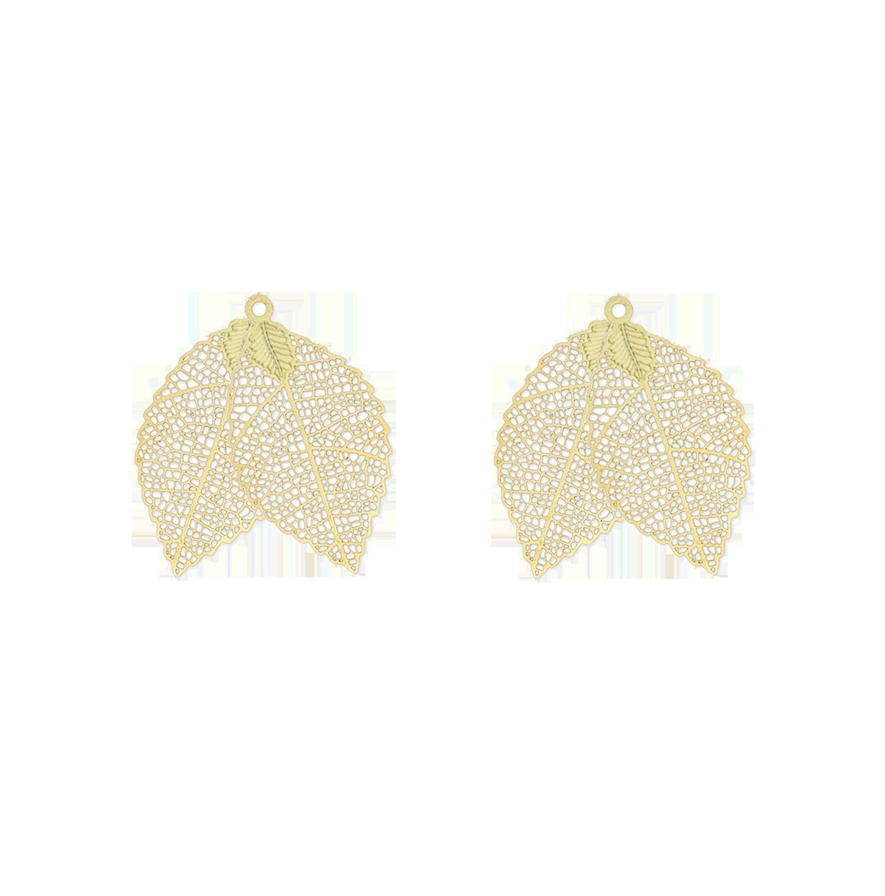 grandes feuilles dorées double