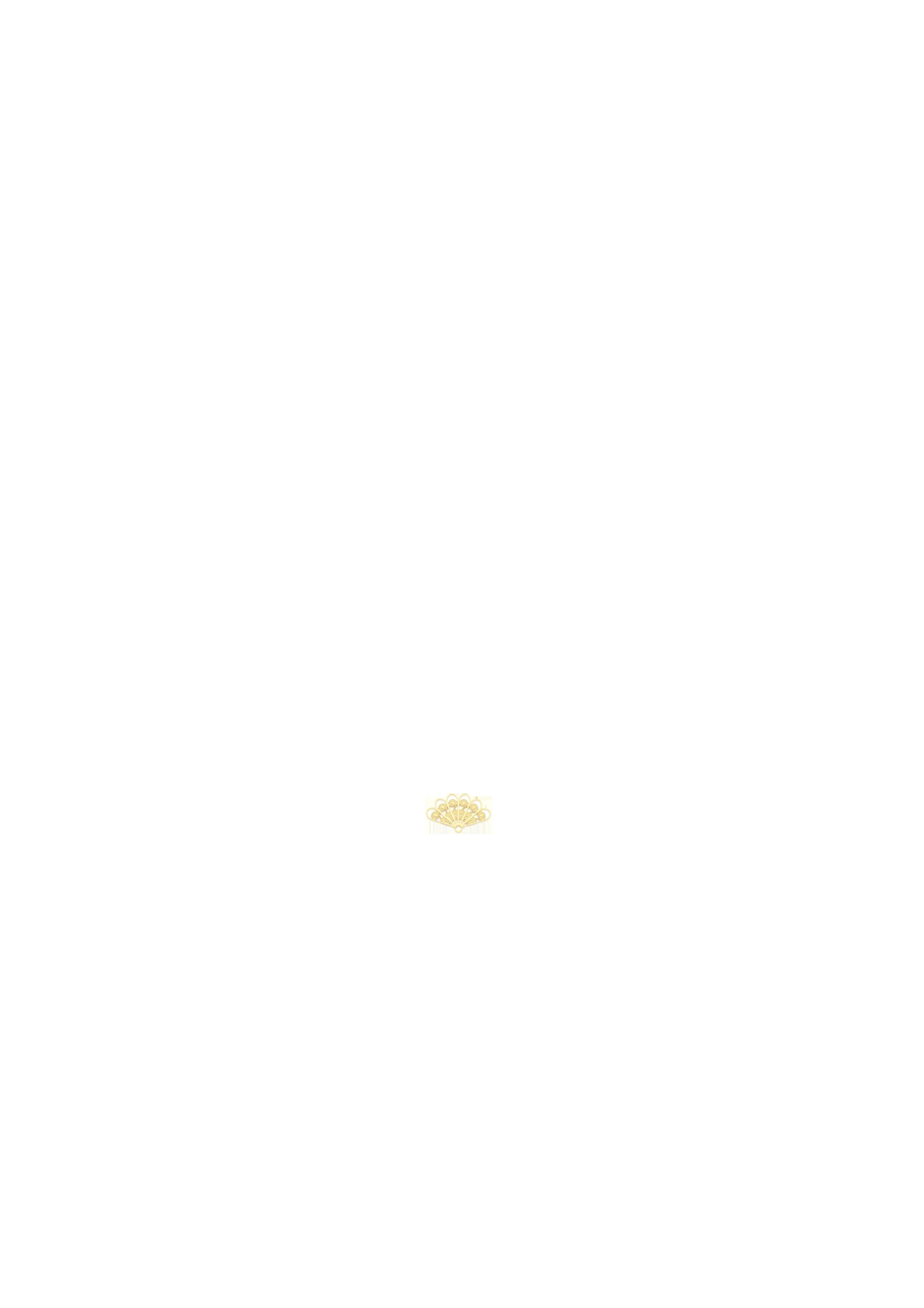 mini éventail doré