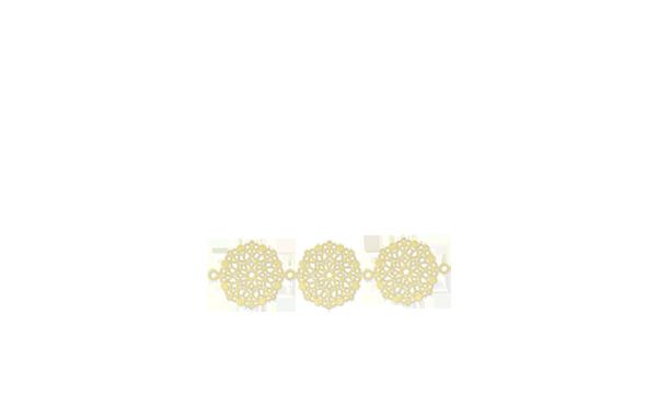 Mini rosace dorée x3