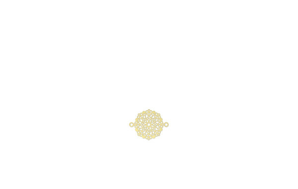 Mini rosace dorée