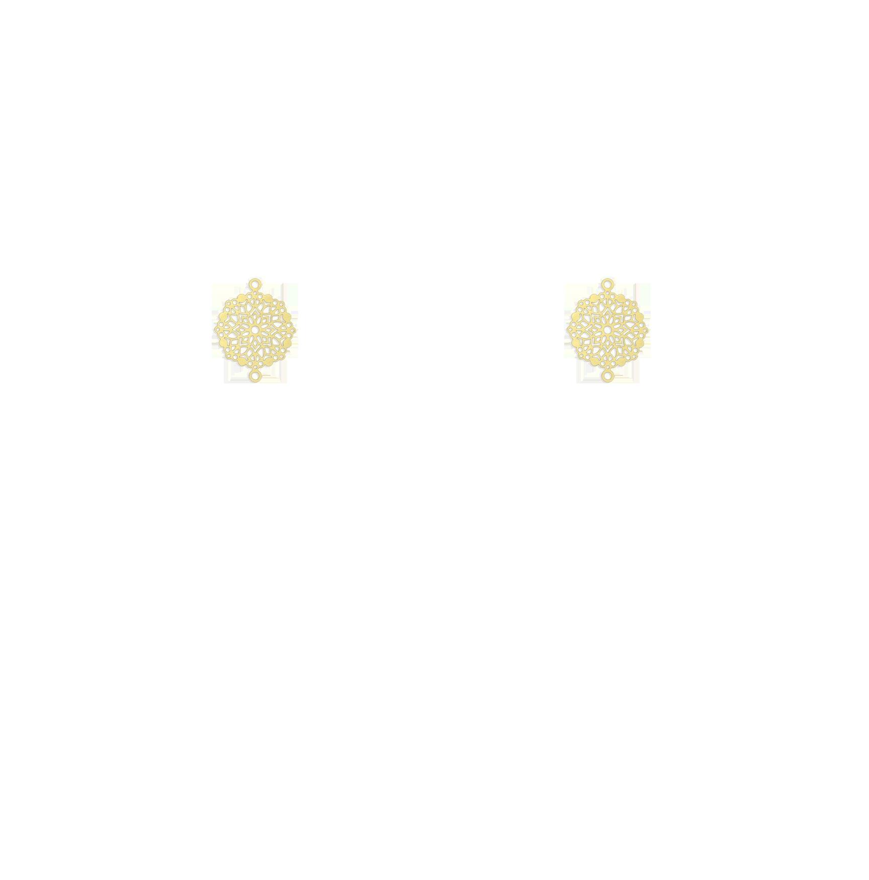 mini rosaces dorées
