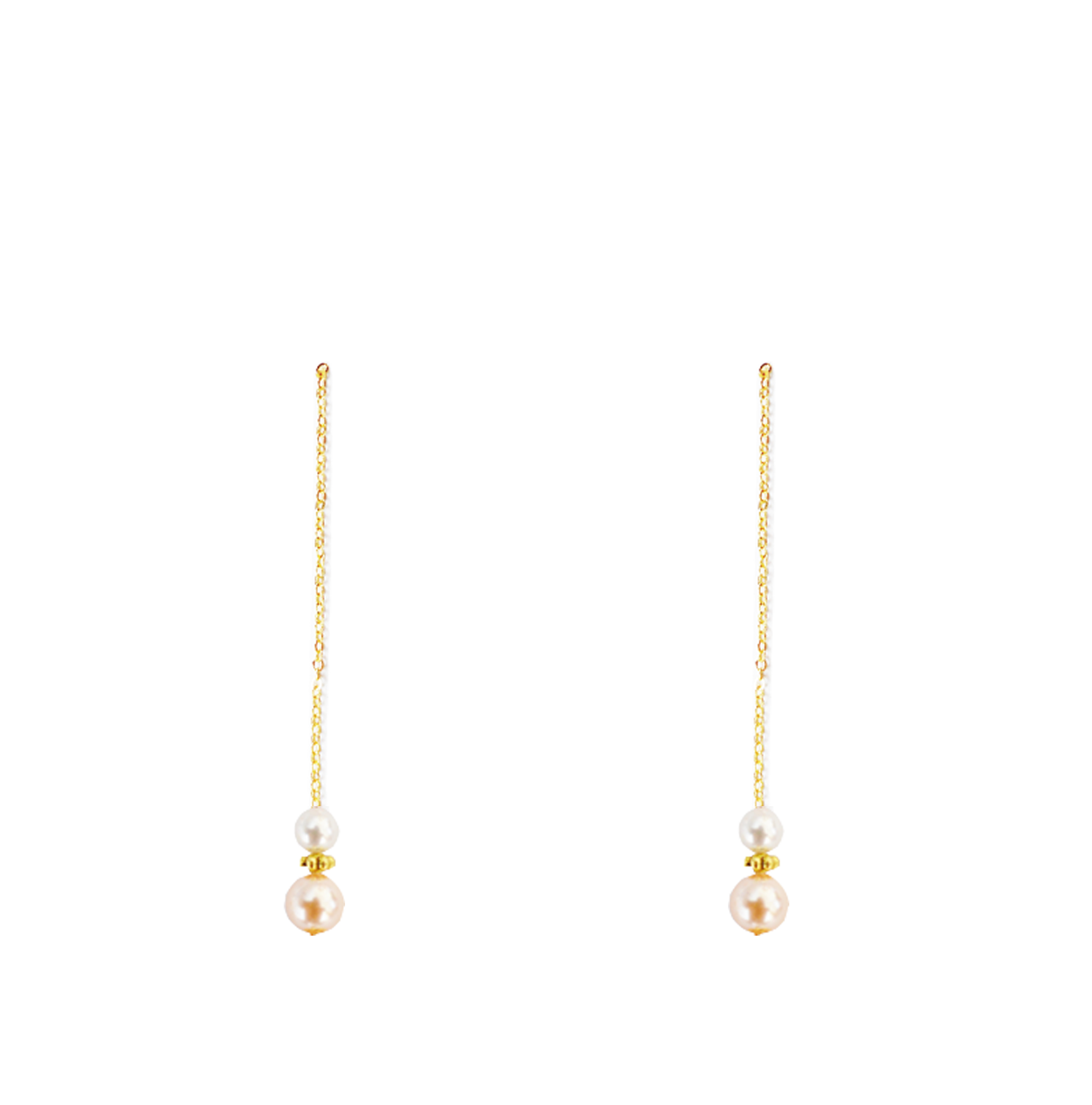 perles rose bas longues