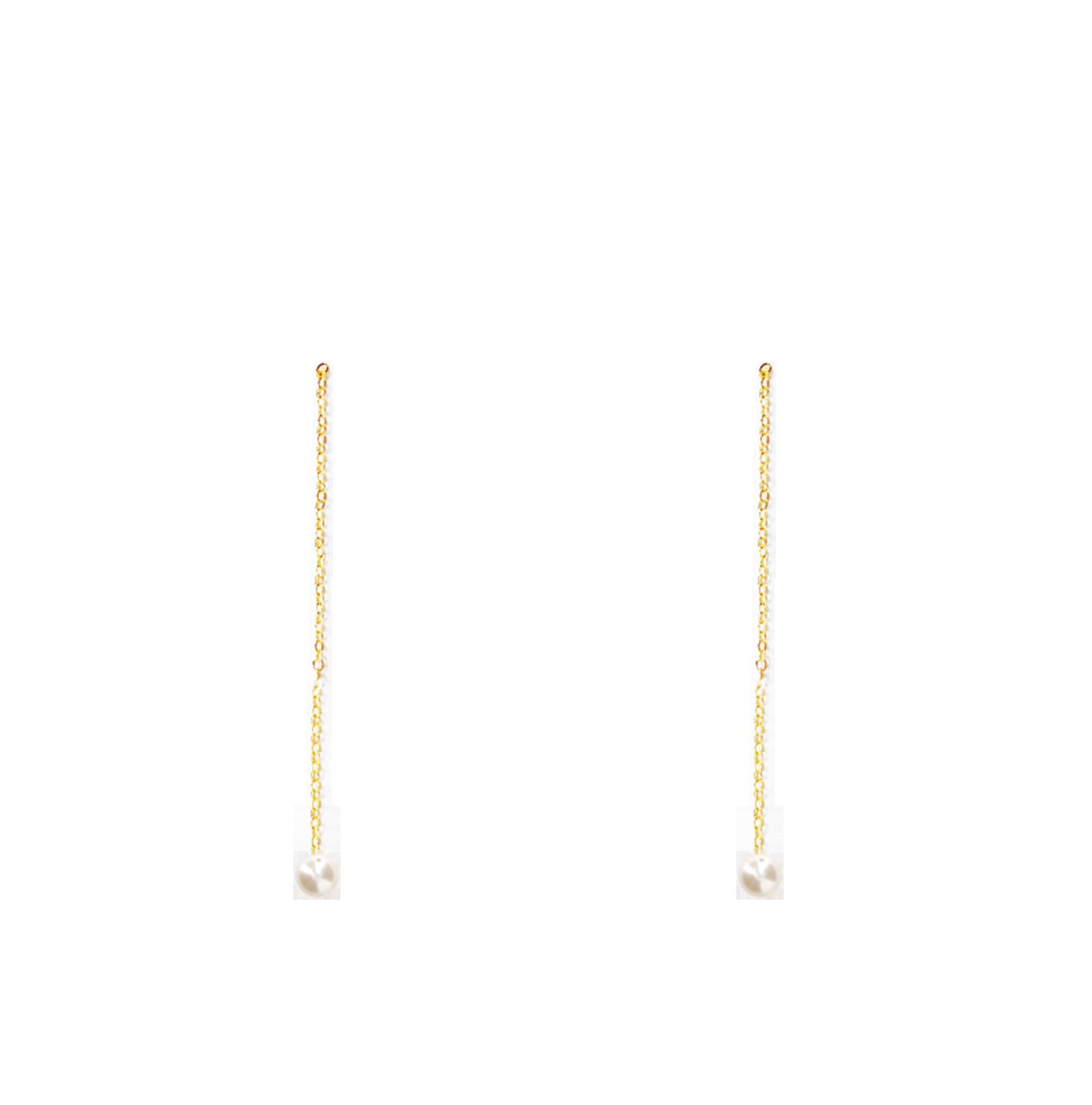 perles longues bas nacrée 6 mm blanc naturel