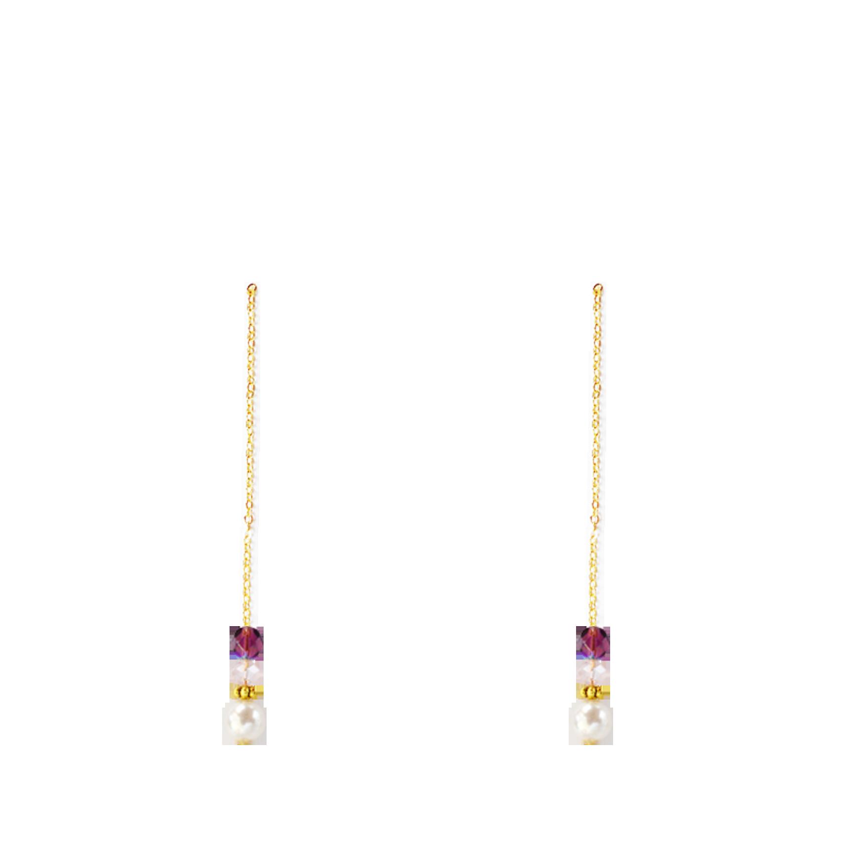 perles prune bas longues