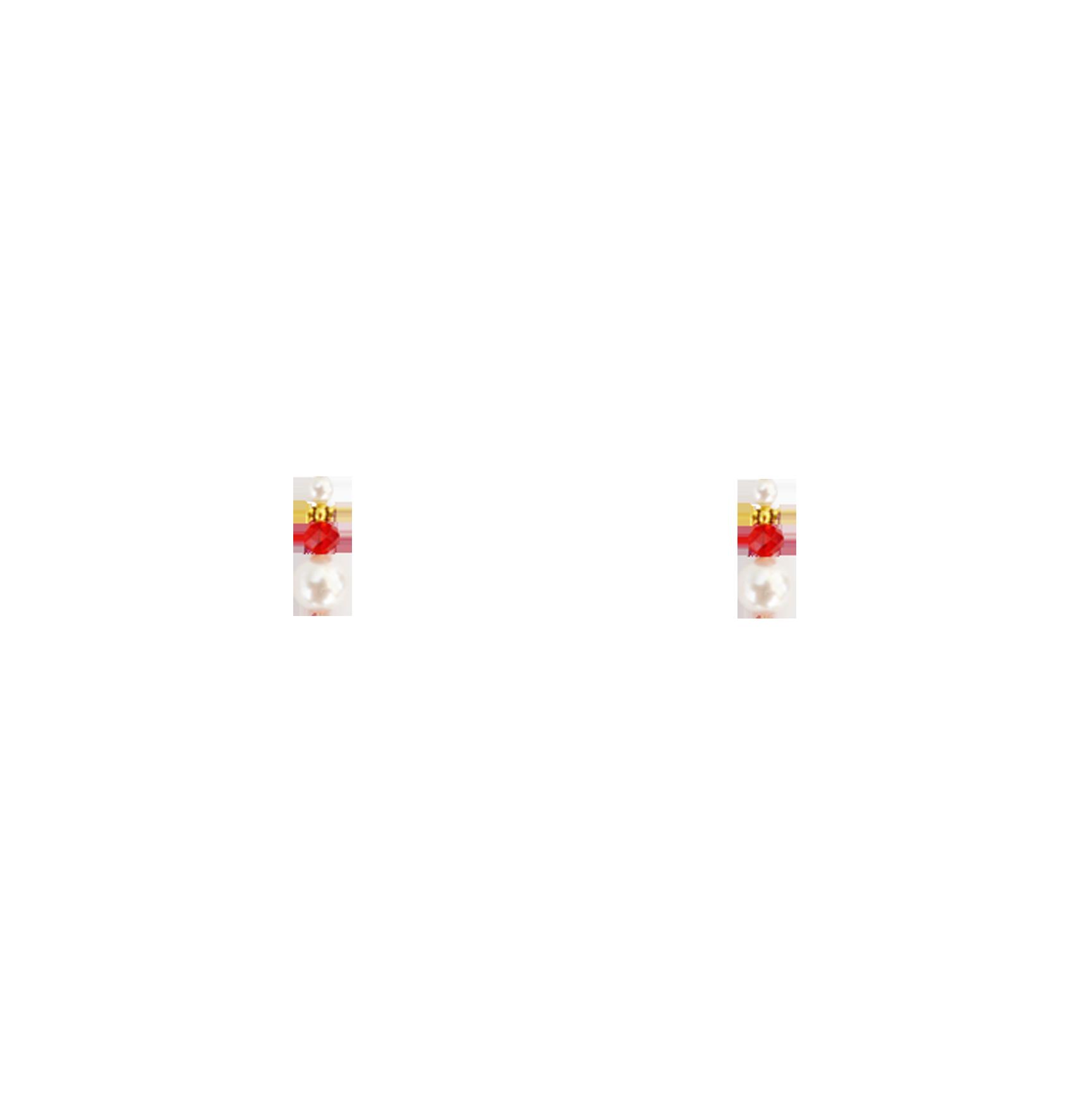 perles rouges bas