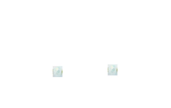 Perles vertes gouttes d'eau