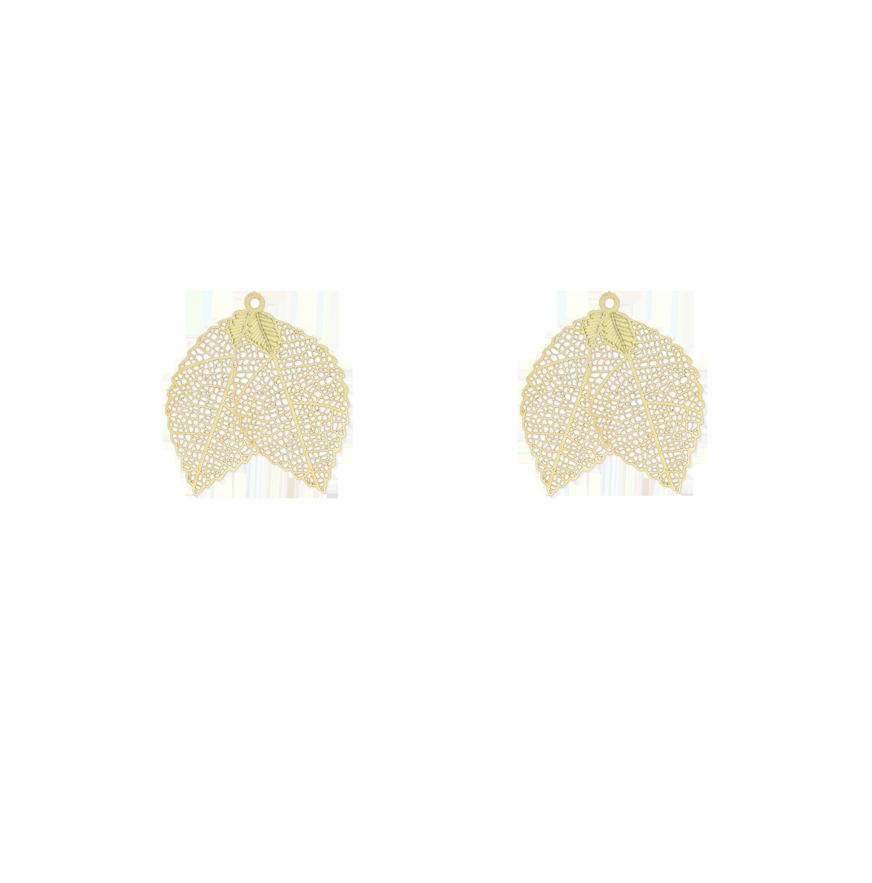 petites feuilles dorées double