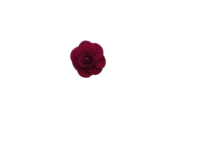 Fleur rose bordeaux