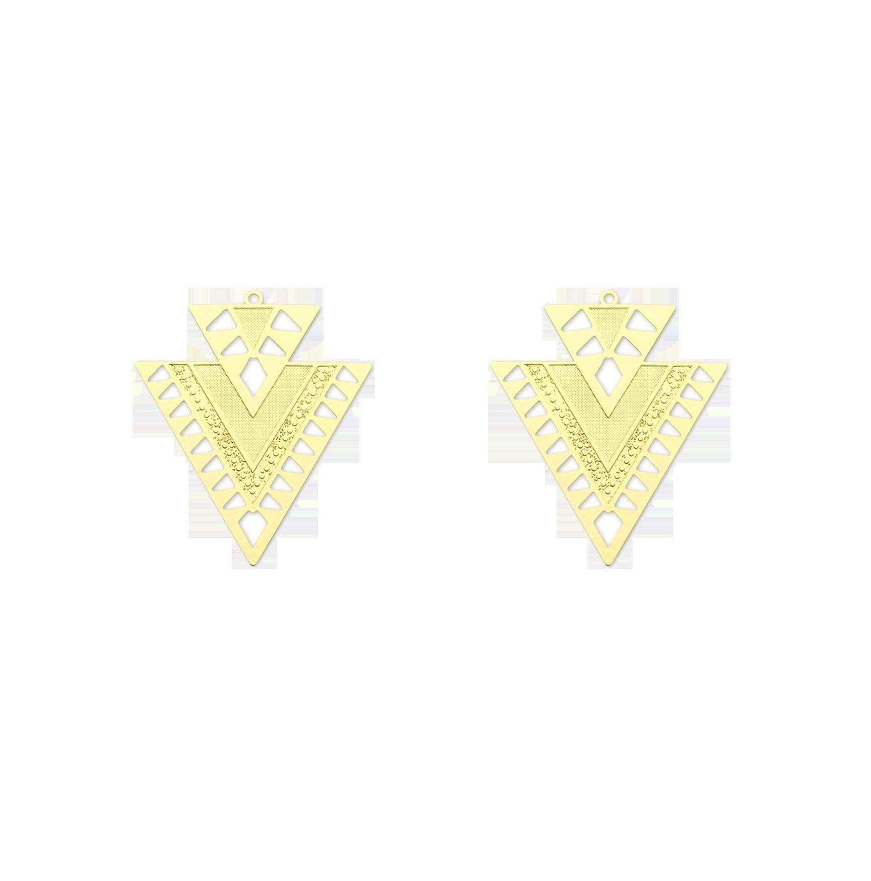 triangles dorés