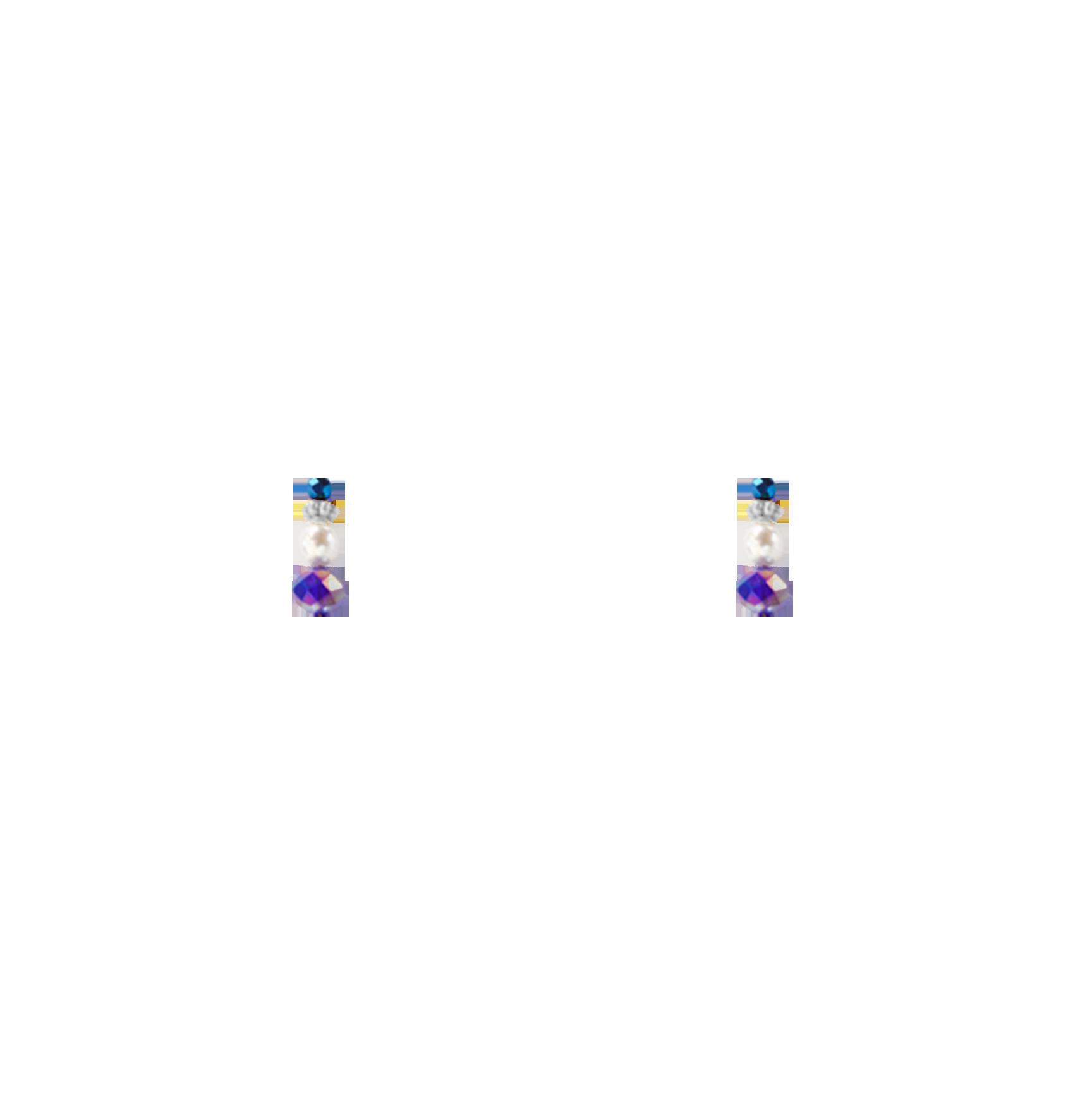 perles bleues bas
