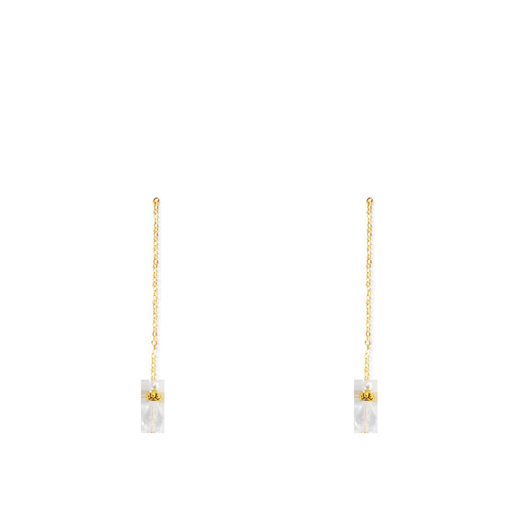 perles cristal nacrées pendantes