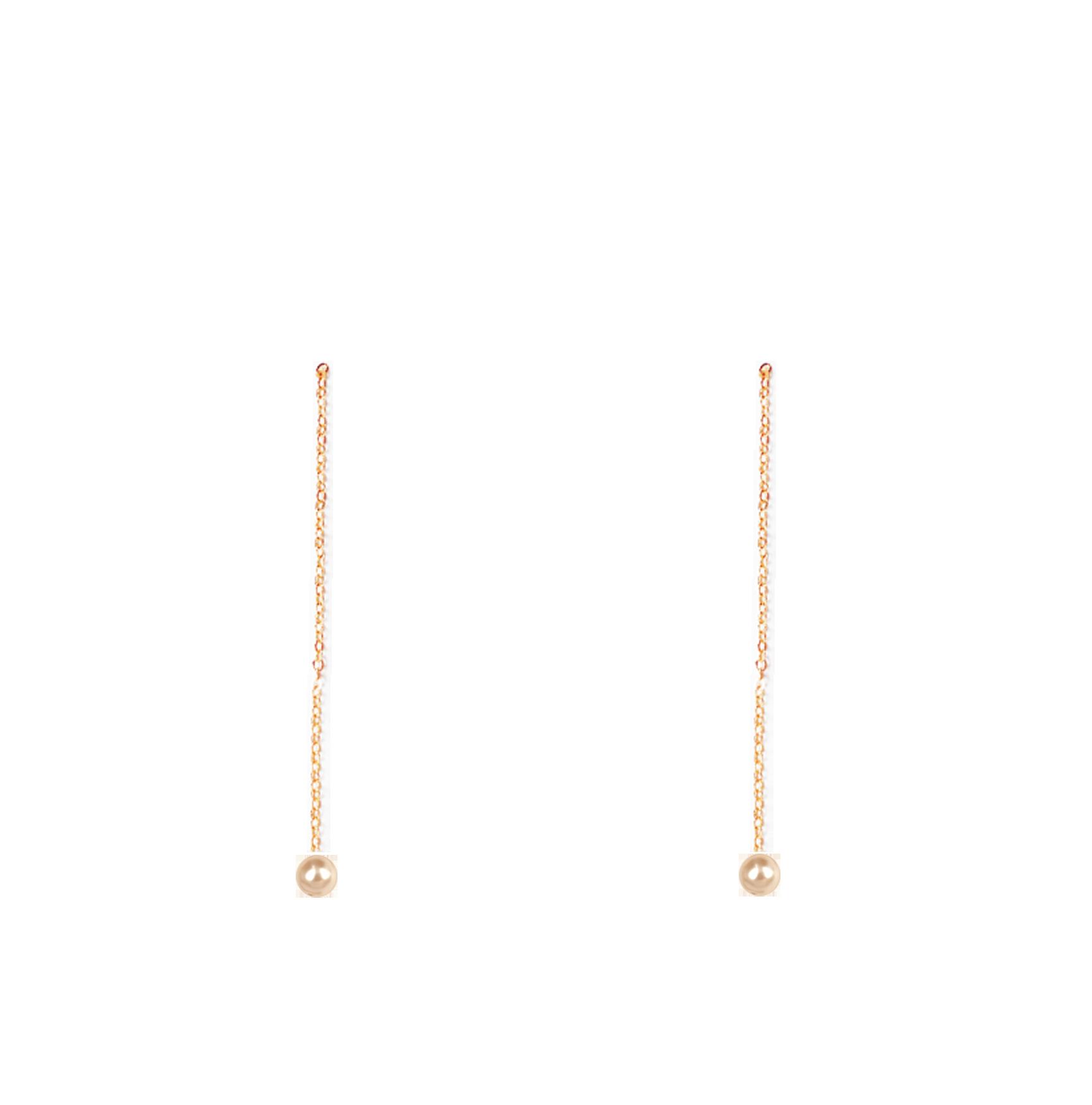 perles longues bas rose poudré