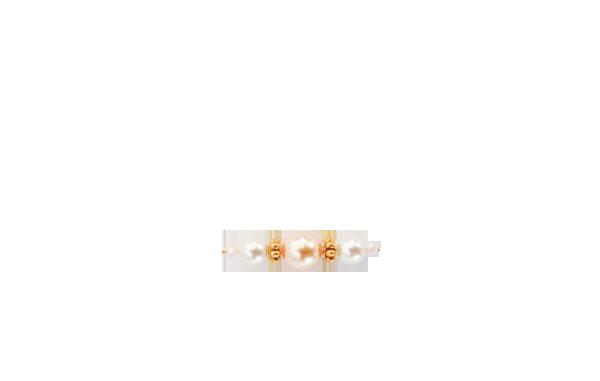perles milieu rose poudré