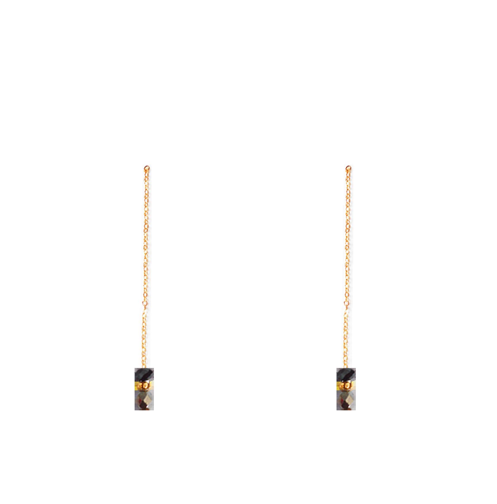 perles noires bas longues