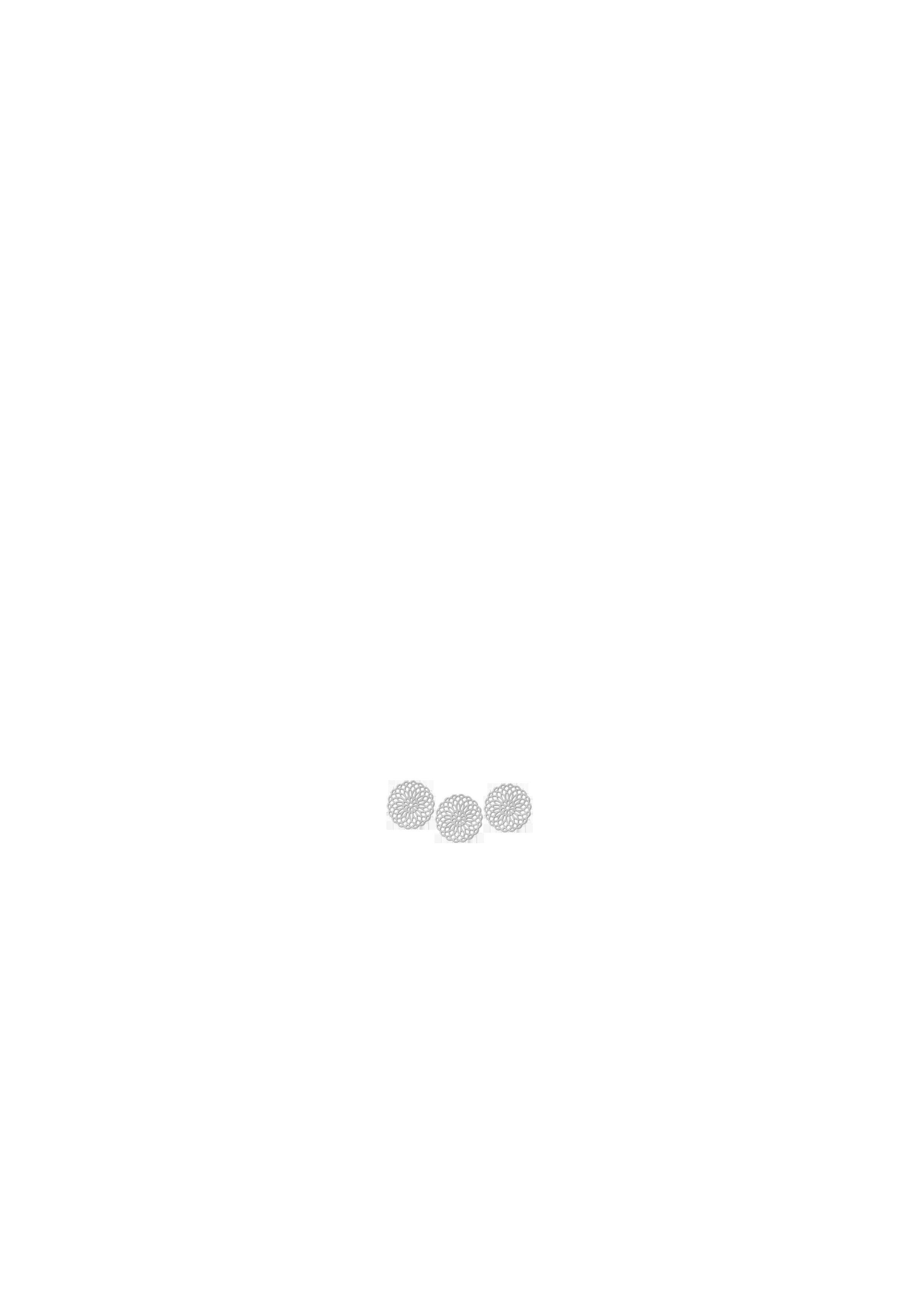 rosaces dorées x 3